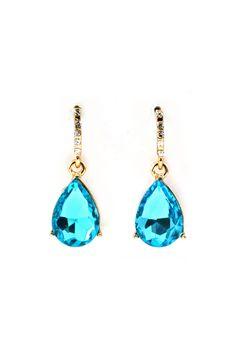 Classic teardrop Earrings in Sky Blue