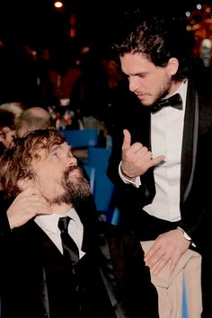 Kit Harington and Peter Dinklage at HBOs Post Emmy After Party, 2016 September 18