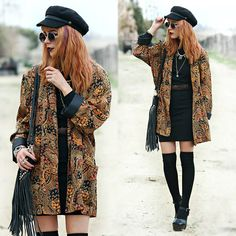 Make a powerful Boho-chic fashion statement with these funky ideas of styling winter Boho outfits. Explore the must-have Hippie garbs here to rock your Bohemian style. Winter Dress Outfits, Outfits With Hats, Casual Winter Outfits, Dress Winter, Indie Outfits, Boho Outfits, Alternative Fashion Indie, Alternative Rock, Alternative Outfits