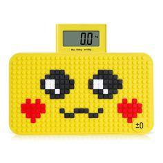 Yeshm Mini Báscula Digital de Peso Báscula de Baño con DIY Puzzle