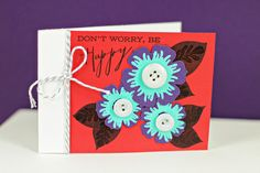 Don't Worry, Be Happy Card by Erin Lincoln for Papertrey Ink (April 2013)