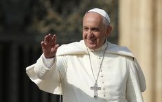 Pope Francis greets the crowd during his general audience in St Peter's Square today (CNS)