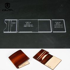 Acrylic Pattern card Case Leather template for leather crafter 857