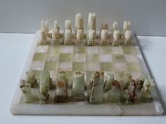 Heavy hand carved genuine onyx #marble chess set #-mexico #board-36x36 cm king-9 ,  View more on the LINK: 	http://www.zeppy.io/product/gb/2/181944178063/