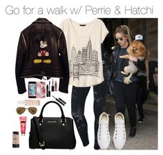 """""""walk.set"""" by hsmklau ❤ liked on Polyvore featuring NIKE, Banana Republic, Converse, Philipp Plein, MICHAEL Michael Kors, Maybelline, Lord & Berry, Ray-Ban and Max Factor"""