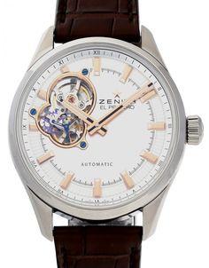 Watchmaster.com - Zenith El Primero 03.2170.4613/01.C713 Men's Watches, Luxury Watches, Cool Watches, Watches For Men, Watch Companies, Men's Apparel, Silver, Leather, Stuff To Buy