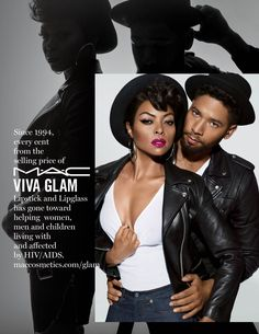 Taraji P. Henson and Jussie Smollett Team Up for M.A.C's VIVA GLAM 2016 Campaign. | ESSENCE.com