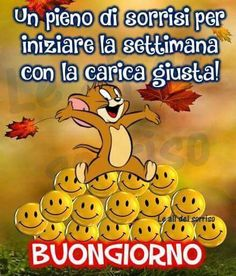Un pieno di sorrisi per - 11981 Good Morning Good Night, Good Morning Quotes, Good Day, Smile Gif, Cute Love Memes, Beautiful Gif, Messages, Good Mood, Tutorial