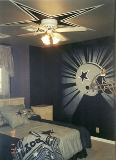 Dallas Cowboys Ceiling I Think Doing The Alone Maybe A Lamp And Throw Blanket Or Pillow Is Great Way To Show Pride Still Have