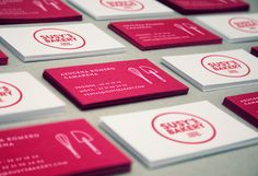 Pink Custom Business Cards of Susky's Bakery. Designed by Para Todo Hay Fans. Susy's Bakery ® is a premium quality bakery and food retail space founded and