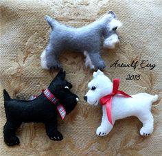 SCOTTIE WESTIE SCHNUAZER Digital Download Christmas by Artwolf, $8.00