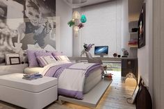 Projeto de interiores, dormitório menina.