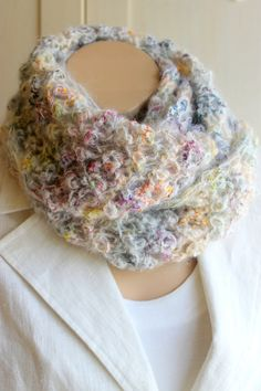 Fashionable Infinity Neck Warmer / Hand Knitting by BERRDESIGNS