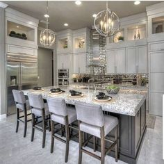 Elegant And Luxury Kitchen Design Stunning And Luxury White Kitchen Design inspiring modern luxury kitchen design ideas Sage Kitchen Cabinet Design Ideas Home Decor Kitchen, New Kitchen, Kitchen Dining, Kitchen Ideas, Awesome Kitchen, Kitchen Island, Condo Kitchen, Decorating Kitchen, Kitchen Tables