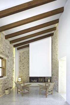 Contemporary Can Manuel d'en Corda, Formentera-walls