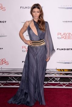 Jessica Biel at the New York Premiere of Playing for Keeps