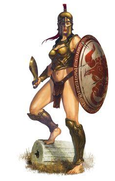 Gladiator. Amazon by DiegoGisbertLlorens.deviantart.com on @DeviantArt