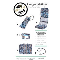 Vera Bradley Graduation Gifts Marrakesh! Come on in to Coastal Living and make sure your Grad is reading for Dorm Living!