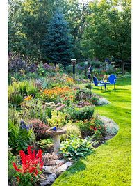 Great tips about how to progressively build a perennial garden.