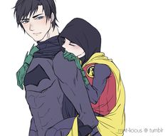 Dick Grayson! and Damian Wayne >>> Look how cute my babies are!!