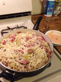 Reuben In A Bowl ( Carol Layman ) - I actually sautéed a small head of cabbage and after it was done added two cans of sauerkraut (only drain one can). Added turkey pastrami  heated through then added shredded  Swiss cheese. Made my own thousand island dressing. So easy.