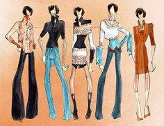 fashion drawing by Catie Donhauser, via Flickr