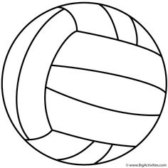 This Volleyball coloring page features a picture of a large volleyball to color. The coloring page is printable and can be used in the classroom or at home. Sports Coloring Pages, Cute Coloring Pages, Coloring Pages To Print, Coloring Pages For Kids, Coloring Sheets, Coloring Books, Volleyball Decorations, Volleyball Crafts, Volleyball Workouts