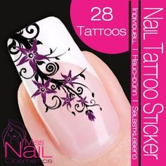 Nail Tattoo Sticker Blossom / Ornament – black – Nail Tattoo Sticker Blossom / Ornament – black – – DESIGN NAIL TATTOO STICKER Quality – Made in Germany The Design Nail Art Tattoos permit, without much time and effort, a professional look of Halloween Nail Designs, Halloween Nail Art, Halloween Spider, Glam Nails, Nail Manicure, Mani Pedi, Nail Decals, Nail Stickers, 22 Tattoo