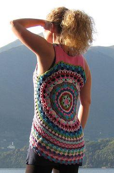 Circle vest -free crochet pattern on Ravelry