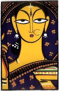 30 Breathtaking Jamini Roy Paintings that Every Art Lover should See Modern Indian Art, Indian Folk Art, Indian Artist, Madhubani Art, Madhubani Painting, Durga Painting, Buddha Painting, Jamini Roy, Bengali Art