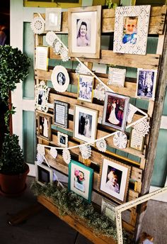 DIY family history display at the reception // Notarius Photography