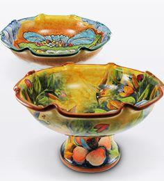 Mexican Majolica Pottery for Sale - Majolica Plates, Vases & Ceramics Mexican Furniture, Rustic Furniture, Hacienda Kitchen, Southwestern Home, Tile Murals, Clay Art, Handmade Art, Art Forms, Decorative Bowls