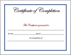 23 Best Certificate Of Completion Images Certificate Of Completion