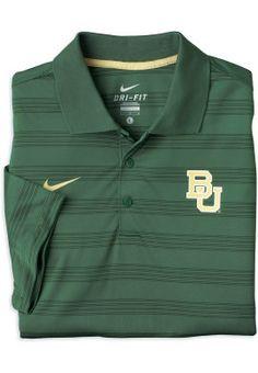 Nike Dri-FIT #Baylor Stripe Polo