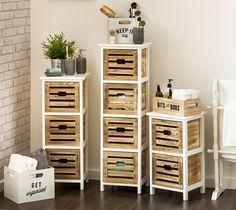 Wooden Bathroom Storage Drawer Units