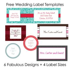 Free Printable Of Cute Wedding Labels For Free Collection Two Of Template