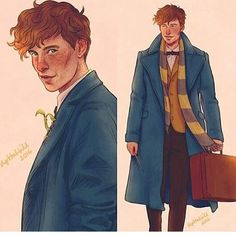I have a smol obsession with Newt art if you couldn't tell... * ~[artist @upthehillart]