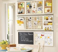 Pottery Barn Daily System. Don't you just love being so organized.