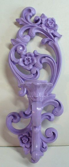 Shabby Chic 1971 UpCycled Purple Wall Sconce by OnTheBlvdVintage, $16.00