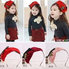 Free Shipping Children cute Berets hair Pin Party Christmas girl lovely hat Hairpins headwear kawaii hair Accessories