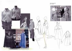 Pre-collection, exploring the shape and fit of menswear on a female figure, playing with silhouette and adjusting menswear garments and patterns to fit a woman. Fashion Portfolio Layout, Fashion Design Sketchbook, Fashion Sketches, Portfolio Ideas, Sketchbook Layout, Sketchbook Ideas, Collage Drawing, Drawing Tips, Conceptual Fashion