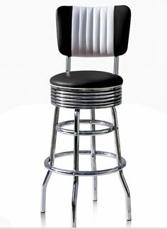 Diner Retro American Style Kitchen Bar Stool - Back Rest