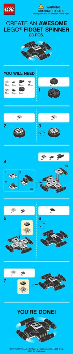 Join the craze and build your very own LEGO Fidget Spinner! Head to LEGO.com to download more Spinner instructions from LEGO Technic http://lego.build/2rp7nqz and LEGO Classic http://lego.build/ClassicSpinners Happy building! #buildingtoy