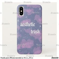 Funda para iPhone morada #phonecase #iphone #aesthetic #purple #heaven #pink Pink, Purple, Iphone, Heaven, Phone Cases, Fashion Accessories, Stamps, Slipcovers, Tent