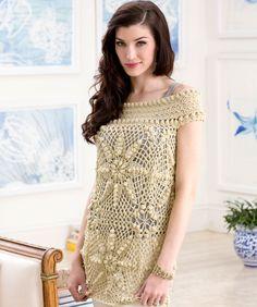 Elizabeth Tunic Crochet Pattern | Red Heart