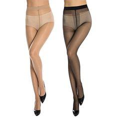9a8bedfa666 Manzi Womens 12 Den Sheer To Crotch Control Top Sheer Toe Pantyhose M 2  Pairs     See this great product. Fashion Women · Tights Socks