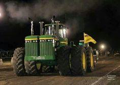 John Deere 8850 with twin diesels