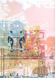 ARTFINDER: East End by Helen Bridges - This limited edition screen print is part of a new series of work based on collections of my iphone photographs. Living in London I am continuously snapping ...
