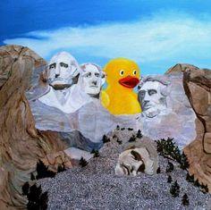 "Saatchi Art Artist Ken Vrana; Painting, ""Ducky Violates US Park Service Statue 237-A4"" #art"