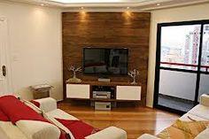 Wood TV wall